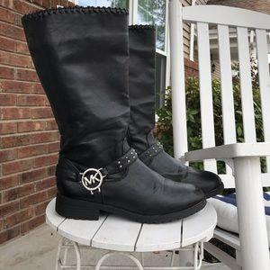 Michael  Kors Carlita black boots - harness strap